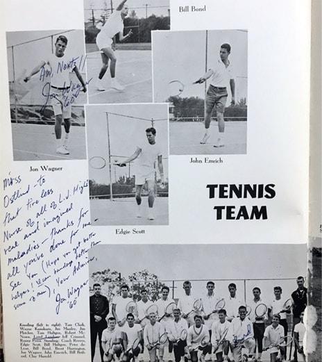 1958 Boys Tennis Team Lajolla High School