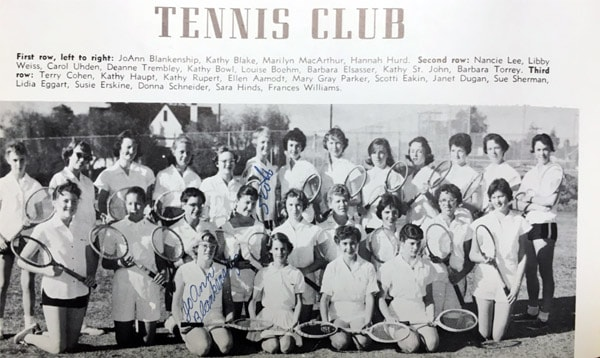 1958 Girls Tennis Team Lajolla High School