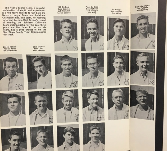 1961 Boys Tennis Team Lajolla High School