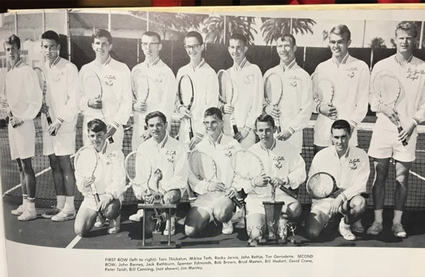 1962 Boys Tennis Team Lajolla High School