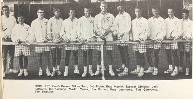 1964 Boys Tennis Team Lajolla High School