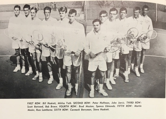 1965 Boys Tennis Team Lajolla High School