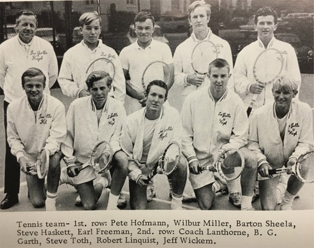 1966 Boys Tennis Team Lajolla High School