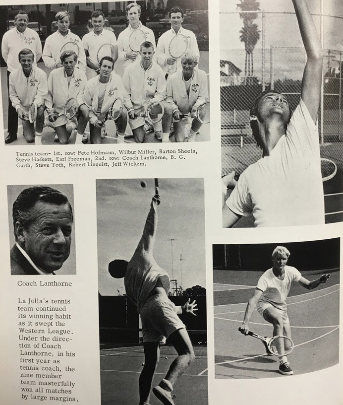 1967 Boys Tennis Team Lajolla High School