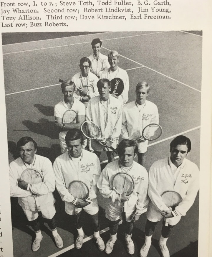 1968 Boys Tennis Team Lajolla High School