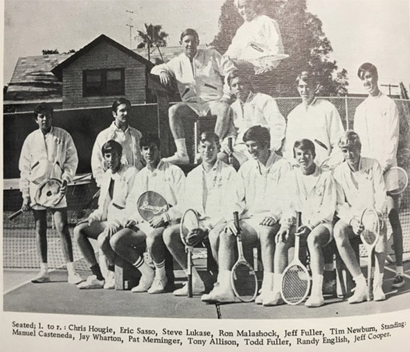 1969 Boys Tennis Team Lajolla High School