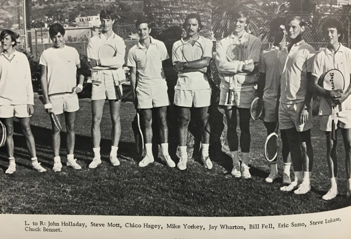 1970 Boys Tennis Team Lajolla High School