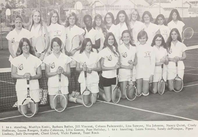 1970 Girls Tennis Team Lajolla High School