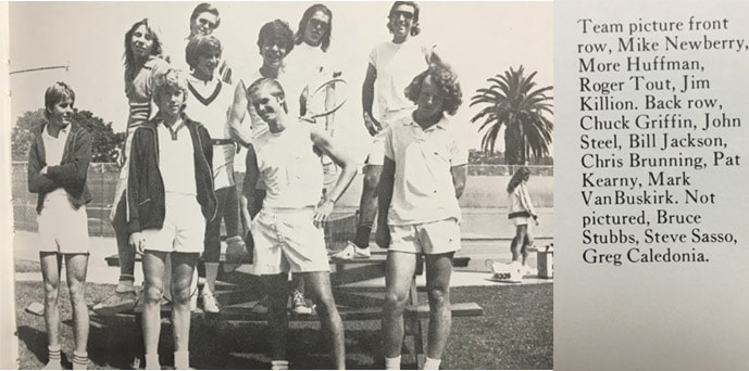 1974 Boys Tennis Team LaJolla High School