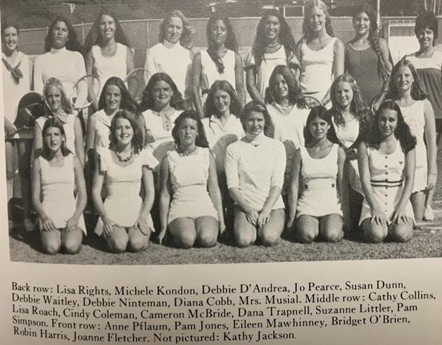 1974 Girls Tennis Team LaJolla High School