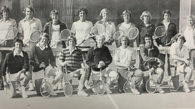 1977 Boys Tennis Team LaJola High School