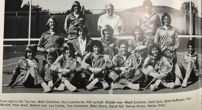 1979 Boys Tennis Team LaJola High School